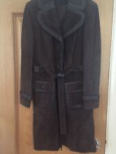 Next Coat Suede And Leather Brown Size 16
