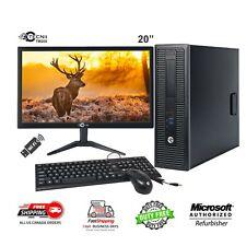 HP 800 G1 Desktop PC Quad Core i5 4570 16GB SSD Win 10 Pro with 20