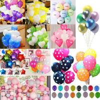 "12"" Colorful Heart Round Latex Balloon Celebration Party Wedding Birthday Decor"