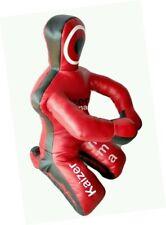 Brazilian Grappling Dummy Mma Wrestling Judo Art Leather- Black/Red