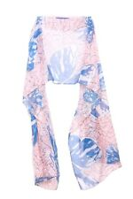 Pastel Pink / White Graphic Butterfly Print Statement Scarf Unique (S16)