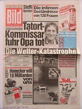 Bild Zeitung vom 6.10.1987, Günther Maria Halmer, Charles Aznavour, Drombusch