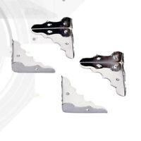 4 Stück Eckschutz Metall Ecke Kofferecken mit 8x Schrauben Set DE DHL