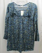 Women's Lucky Brand Ruffled  Shirt  2X