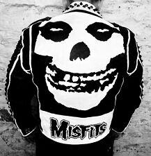 The Misfits Punk Rock Painted Studded Leather Jacket L Samhain Danzig Varvatos