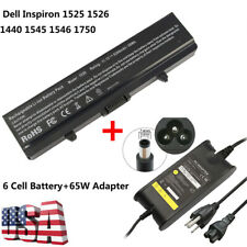 BATTERY + CHARGER for Dell Inspiron 1525 1526 1545 1546 14 1440 17 1750 0C601H