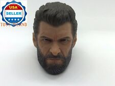 "1/6 Wolverine Logan Head Sculpt For 12"" Hot Toys PHICEN Custom Male Figure ❶USA❶"