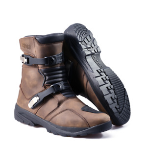 Fusport Gibson Motorcycle Adventure Riding Boots - Brown
