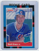 1988 CUBS Mark Grace signed RATED ROOKIE card Donruss #40 AUTO RC Autographed