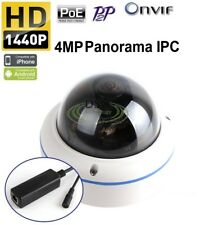 Fisheye Panoramic IP Camera 360 Degree Wide Angle 4MP Onvif P2P PoE/12VDC