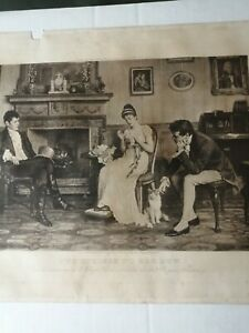 Original Print From Painting By Charles Haigh Wood,  Dated 1893 Unframed