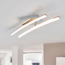 LED-Deckenleuchte Akasia 2 Stangen Deckenlampe Silber Modern LEDs Lampenwelt