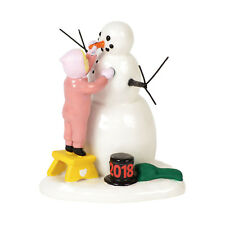 Dept 56 2018 Lucky The Snowman #6001688 NIB FREE SHIPPING 48 STATES
