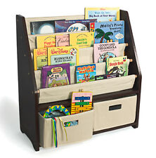 Brown Bookshelf Bookcase Bookrack Book Shelf for Children Toy Bedroom Storage