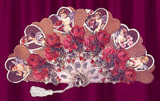 VICTORIAN HEARTS & ROSES Greeting Card FAN!!