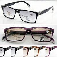 SL148 Plastic Bifocal Light Tinted lens Reading Glasses & Large Frame & Diamante