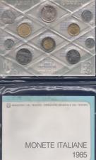 SET DIVISIONALE 10 MONETE CON 500 LIRE ARGENTO 1985 ITALIA FDC MANZONI
