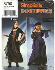 Simplicity Sewing Pattern Women's FANTASY MEDIEVAL GOTHIC DRESS 8750 10-14 UNCUT