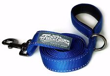 6ft Blue Dog Leash - Thick, Heavy-Duty, Padded Handle, Reflective Stitching