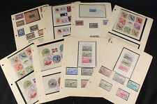 1950's 1960's Caribbean Souvenir Sheets & Stamps Lot Pages Haiti, Costa Rica +