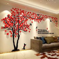 3D Flower Tree Home Room Art Decor DIY Wall Sticker Removable Decal Vinyl Mu Kn