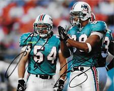 ZACH THOMAS JASON TAYLOR REPRINT AUTOGRAPHED SIGNED 8X10 PHOTO MIAMI DOLPHINS RP