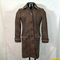 SPENCER JEREMY Wool Jacket Coat Womens Misses Size S Dark Brown