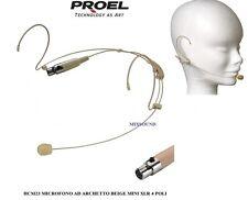 MICROFONO ARCHETTO PROEL HCM23 MINI XLR 4 poli RADIOMICROFONO AMBRA COLOR CARNE