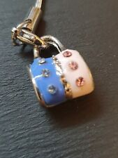 Pink & Blue handbag  Zip Pull , Mobile Phone Charm or Keyring  (2A3)