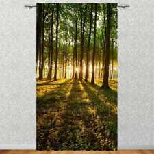 """Vorhang 2-teilig 270x245cm  /""""Waldtiere am Bach/""""Fotovorhang Motiv Digitaldruck"""