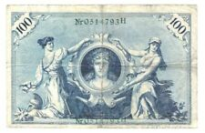 1908 Germany Imperial Bank note 100 reichsmark,P#34