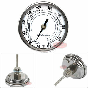 """3"""" BBQ Pit Grill Thermometer Cooking Dial 550F Temp Gauge Smoker Temperature New"""