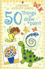 Activity Cards:50 Things to Draw and Paint (Usborne Activity Cards) NEW FREE P&P