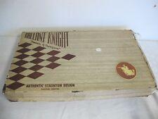VINTAGE GALLANT KNIGHT AUTHENTIC STAUNTON DESIGN CHESS GAME CHESSMEN C100 SAXONY