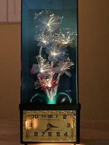 Vintage Fiber Optic Color Changing Flowers Lamp 1980s With Clock watch video too