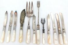 EXCELLENT SELECTION VANTIQUE MOTHER OF PEARL HANDLE CUTLERY.