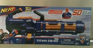 OFFICIAL NERF N-Strike Elite Titan Blaster CS-50 (MOTORISED) incl 50 Nerf Darts