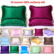 1pc 19mm 100% Mulberry Silk Pillow Case Cover Ruffled Borders Sisters-Silk