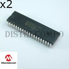 PIC16F877A-I/P Microcontrôlleur PDIP-40 Microchip RoHS (lot de 2)