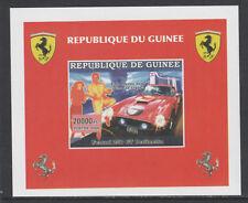 Guinée 5757 - 2006 FERRARI & Elvis imperf Deluxe Feuille U/M