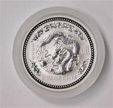 2000 Australia Year Of The Dragon - 2 Ounce Silver Coin !!