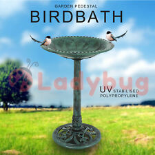 Bird Bath Wash Ornament Garden Feeder Statue With Pebbles Outdoor Decor 70cm