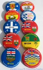 Set of 10 Trackable Canadian Geocaching Buttons - Provincial Flags