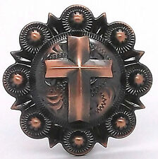 "Cross Berry Concho Antique Copper All Metal 1-1/2"" 1738-10"