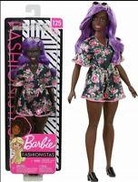 Barbie Fashionistas Doll #125.Curvy AA w/ Purple Hair - New