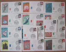 Berlin FDC 494 - 507 auf 14 FDCs, Sammlung, alle mit SST, first day cover