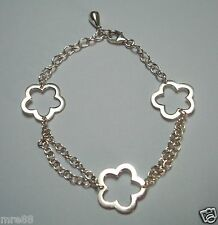 MRE * 925 Sterling Silver Bracelet with Flower Charms