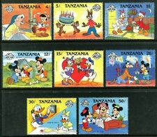 Tanzania 424-431 Walt Disney characters Mickey Mouse 60th Ann. 1988 x14684b