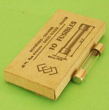 10x FUSIBLE 6,35 x 31,7 mm 63 mA ISOLANT VERRE boîte de 10 fusibles