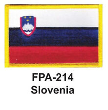 """2-1/2'' X 3-1/2"""" SLOVANIA Flag Embroidered Patch- one piece"""